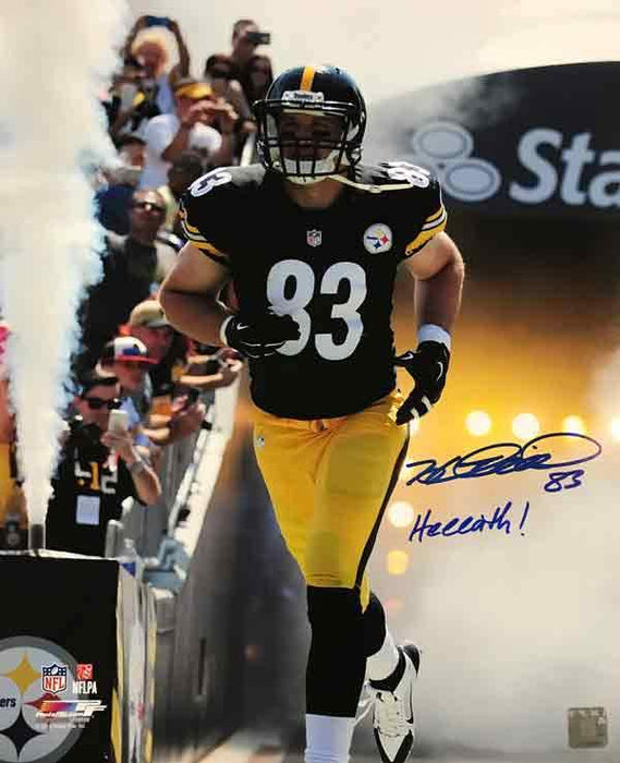 Heath Miller Autographed Entrance Vertical 16 x 20 Photo with Heeeath!