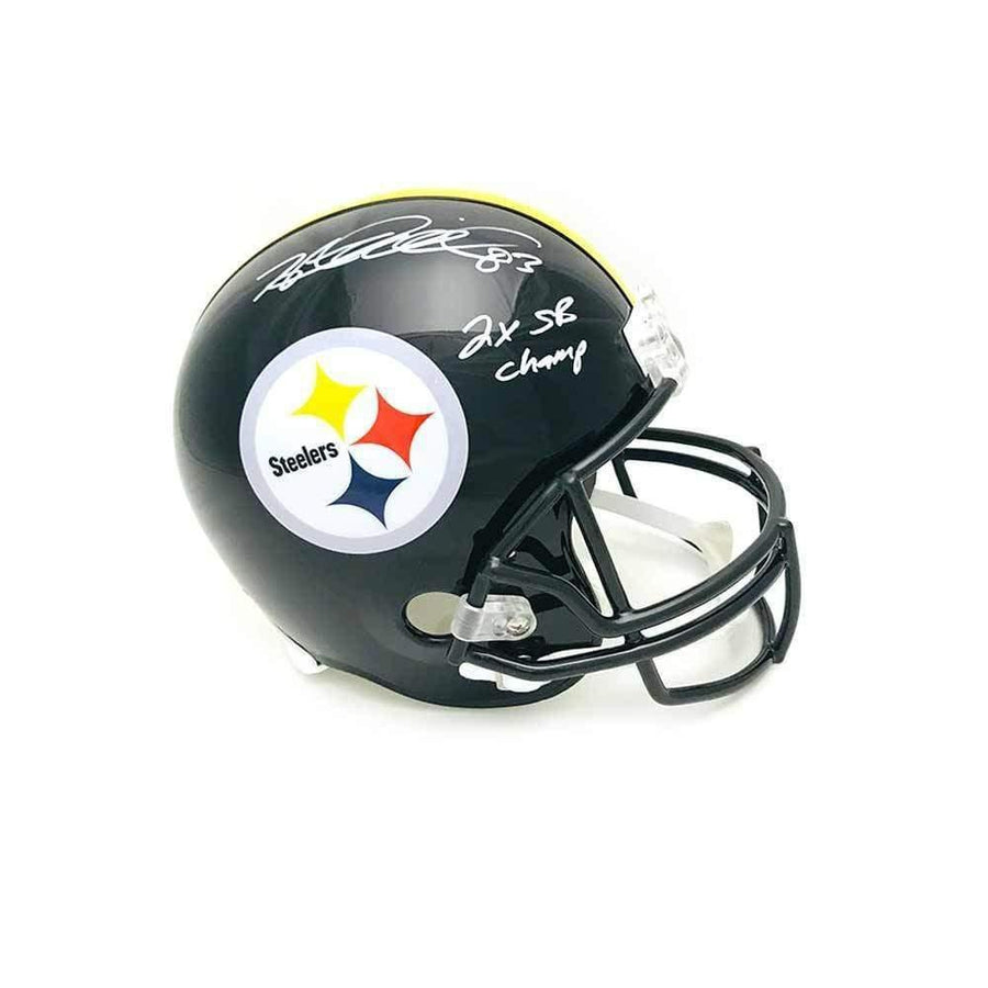 Heath Miller Autographed Pittsburgh Steelers Black Full Size Replica Helmet with 2X SB Champs