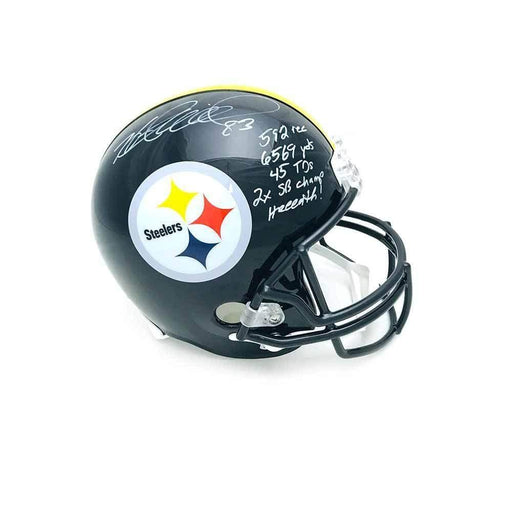 Heath Miller Autographed Pittsburgh Steelers Black Full Size Replica Helmet with 5 Inscriptions