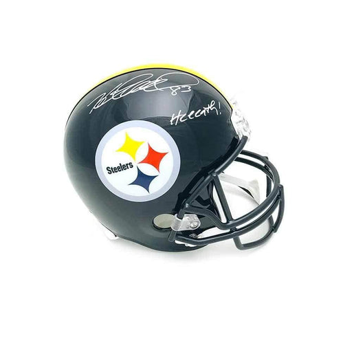 Heath Miller Autographed Pittsburgh Steelers Black Full Size Replica Helmet with Heeeath!