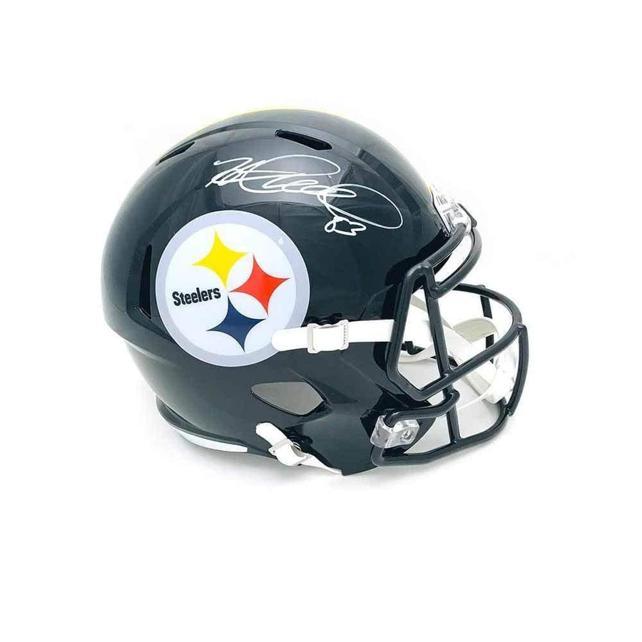 517c96b86ff Heath Miller Autographed Pittsburgh Steelers Black Full Size Replica SPEED  Helmet
