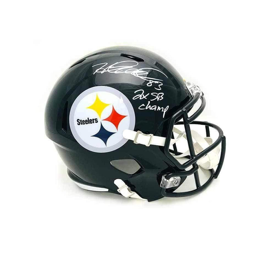 Heath Miller Autographed Pittsburgh Steelers Black Full Size Replica SPEED Helmet with 2X SB Champs