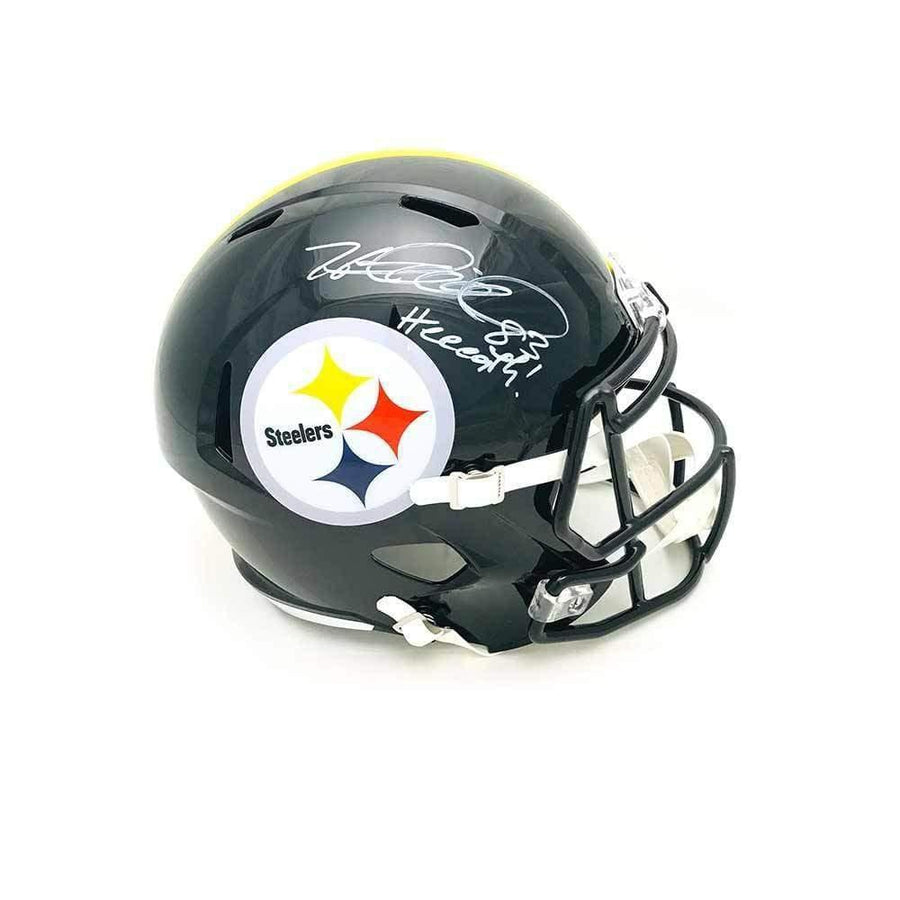 Heath Miller Autographed Pittsburgh Steelers Black Full Size Replica SPEED Helmet with Heeeath!