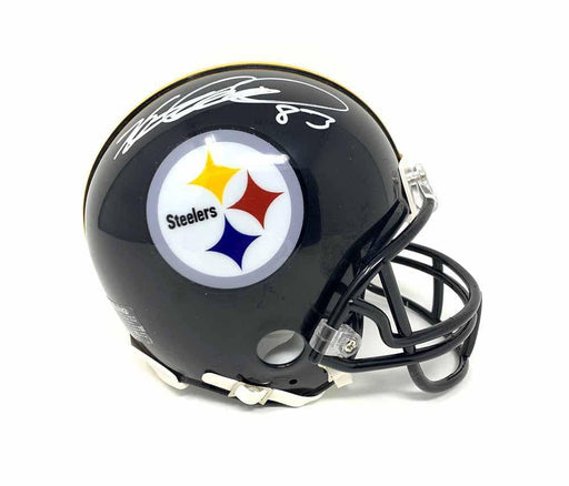 Heath Miller Autographed Pittsburgh Steelers Black SB XL Edition Mini Helmet