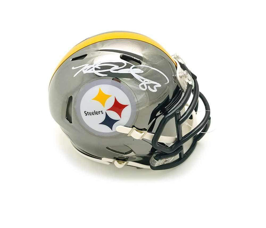 8d5aa84e3f2 Heath Miller Autographed Pittsburgh Steelers CHROME Mini Helmet