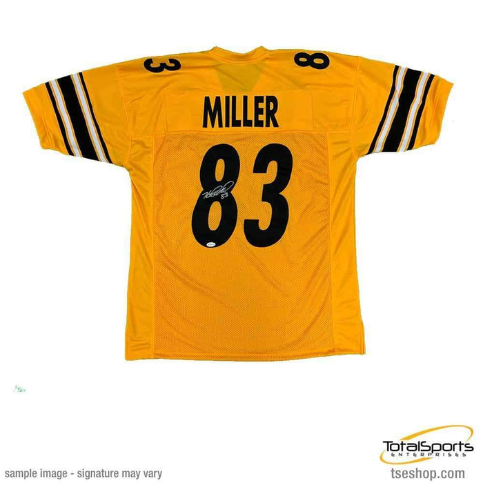 Heath Miller Autographed Reversed Custom Jersey