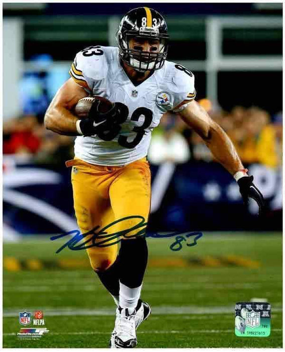 Heath Miller Autographed Running in White 16x20 Photo