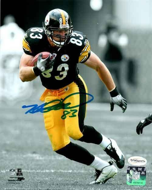Heath Miller Autographed Spotlight with Ball 16x20 Photo
