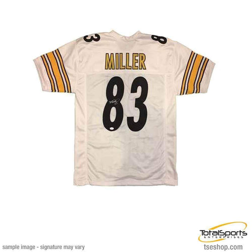 Heath Miller Autographed White Custom Jersey
