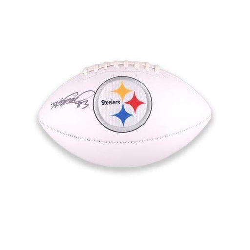 Heath Miller Autographed White Logo Football