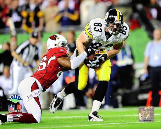 Heath Miller Catch Vs. Cardinals in SB XLIII 8x10 Photo - UNSIGNED