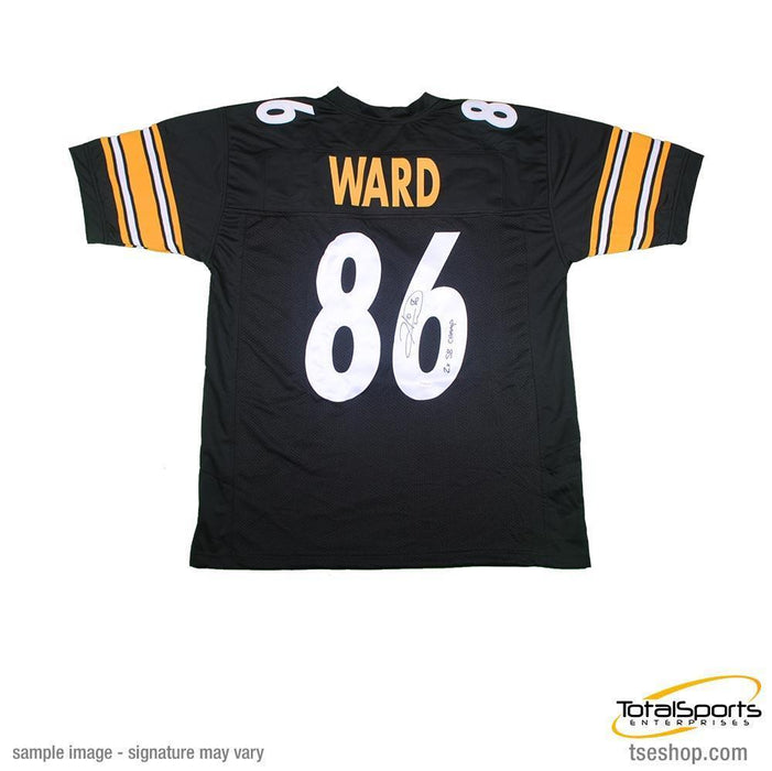 Hines Ward Autographed Black Custom Jersey inscribed '2X SB CHAMP'