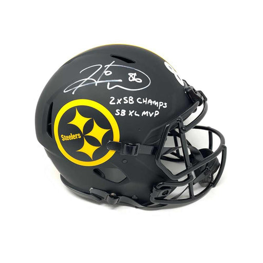 Hines Ward Autographed Pittsburgh Steelers Authentic ECLIPSE Helmet with Dual Inscriptions