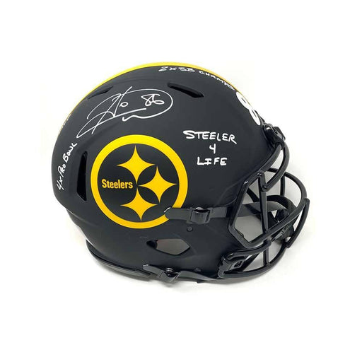 Hines Ward Autographed Pittsburgh Steelers Authentic ECLIPSE Helmet with Multiple Inscriptions