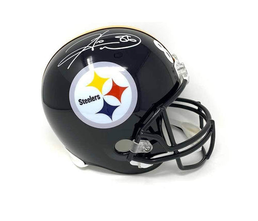 Hines Ward Autographed Pittsburgh Steelers Black Mini Helmet with SB XL MVP