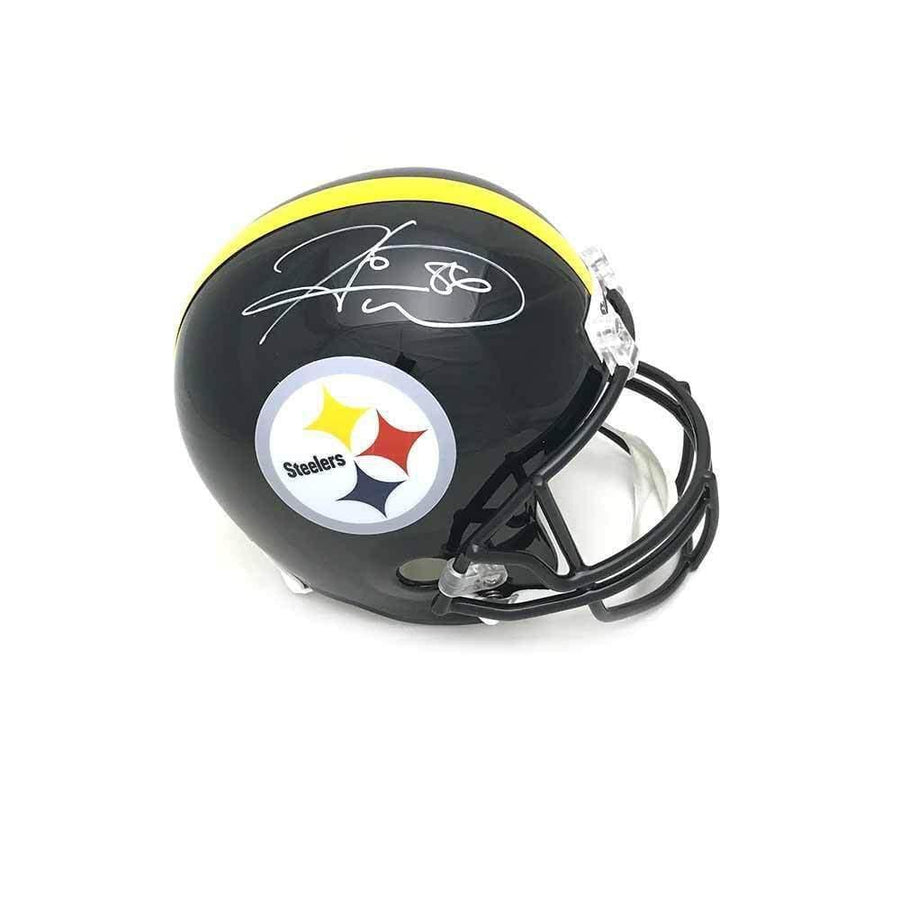 Hines Ward Autographed Pittsburgh Steelers Black Replica Helmet