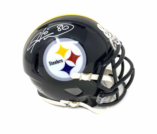 Hines Ward Autographed Pittsburgh Steelers Black SPEED Mini Helmet