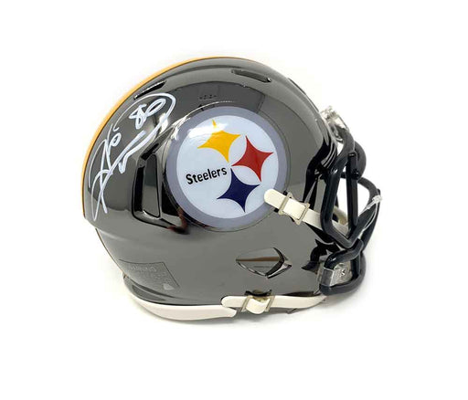 Hines Ward Autographed Pittsburgh Steelers CHROME Mini Helmet