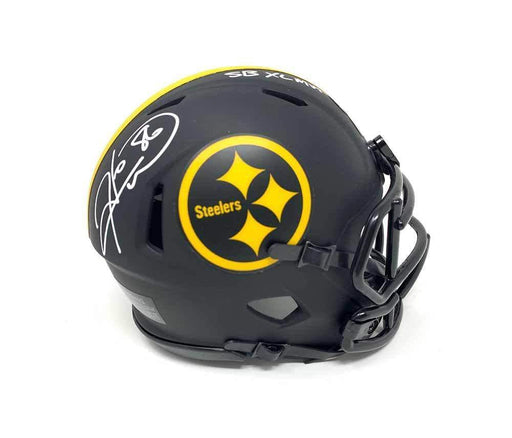 Hines Ward Autographed Pittsburgh Steelers Eclipse Mini Helmet with SB XL MVP