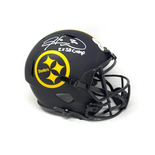 Hines Ward Autographed Pittsburgh Steelers Replica ECLIPSE Helmet with 2X SB CHAMP
