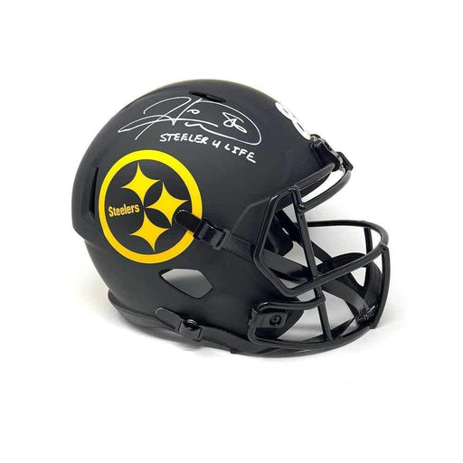Hines Ward Autographed Pittsburgh Steelers Replica ECLIPSE Helmet with Steeler 4 Life