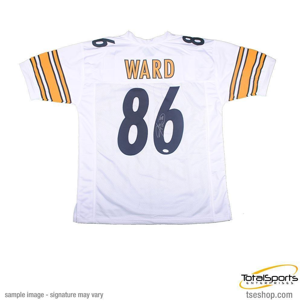 new product e5d7b 1ff3c Hines Ward Autographed White Custom Jersey
