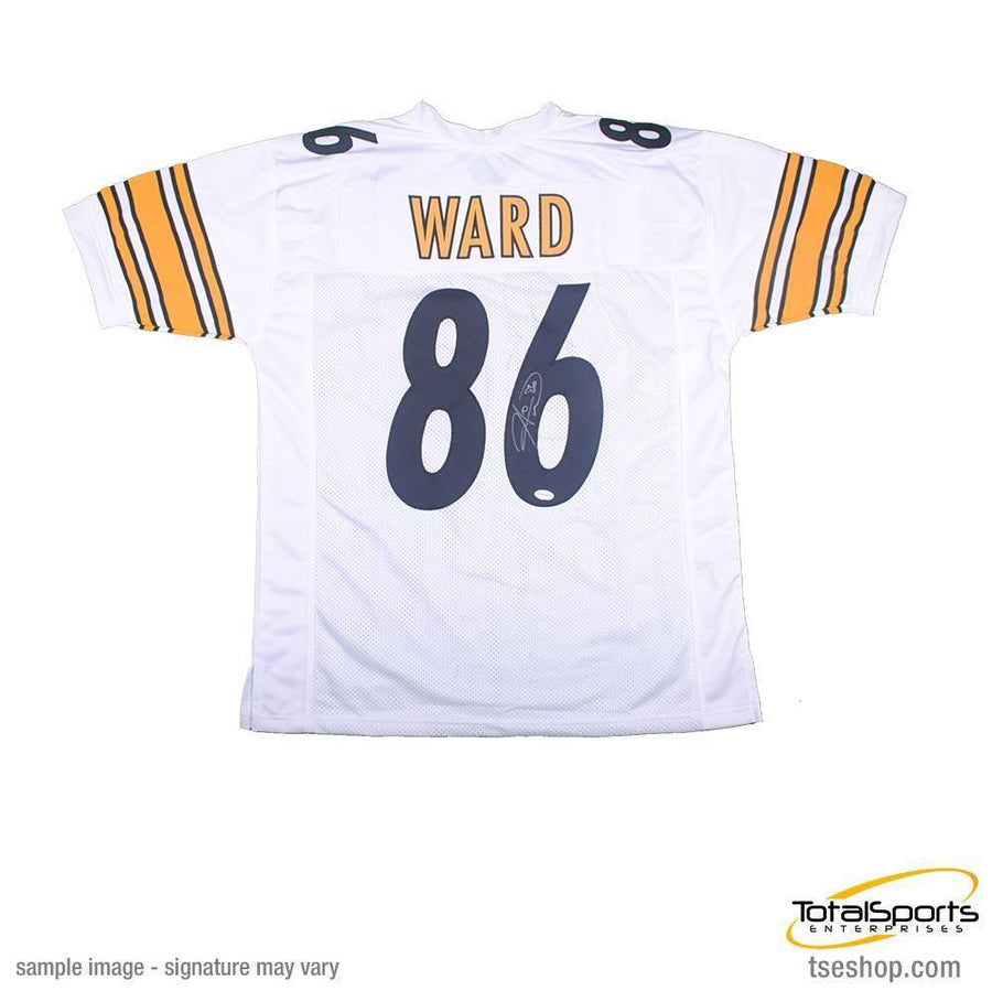 1b7fad533 Hines Ward Autographed Pittsburgh Steelers White Custom Jersey