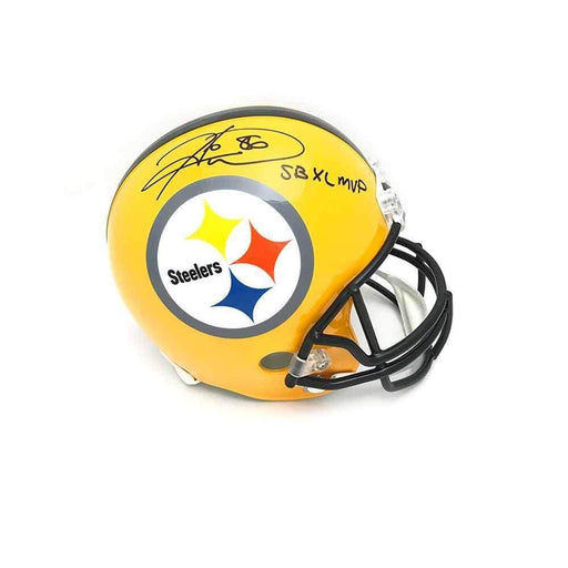 Hines Ward Autographed Replica 75th Anniversary Steelers Helmet with 'SBXL MVP'