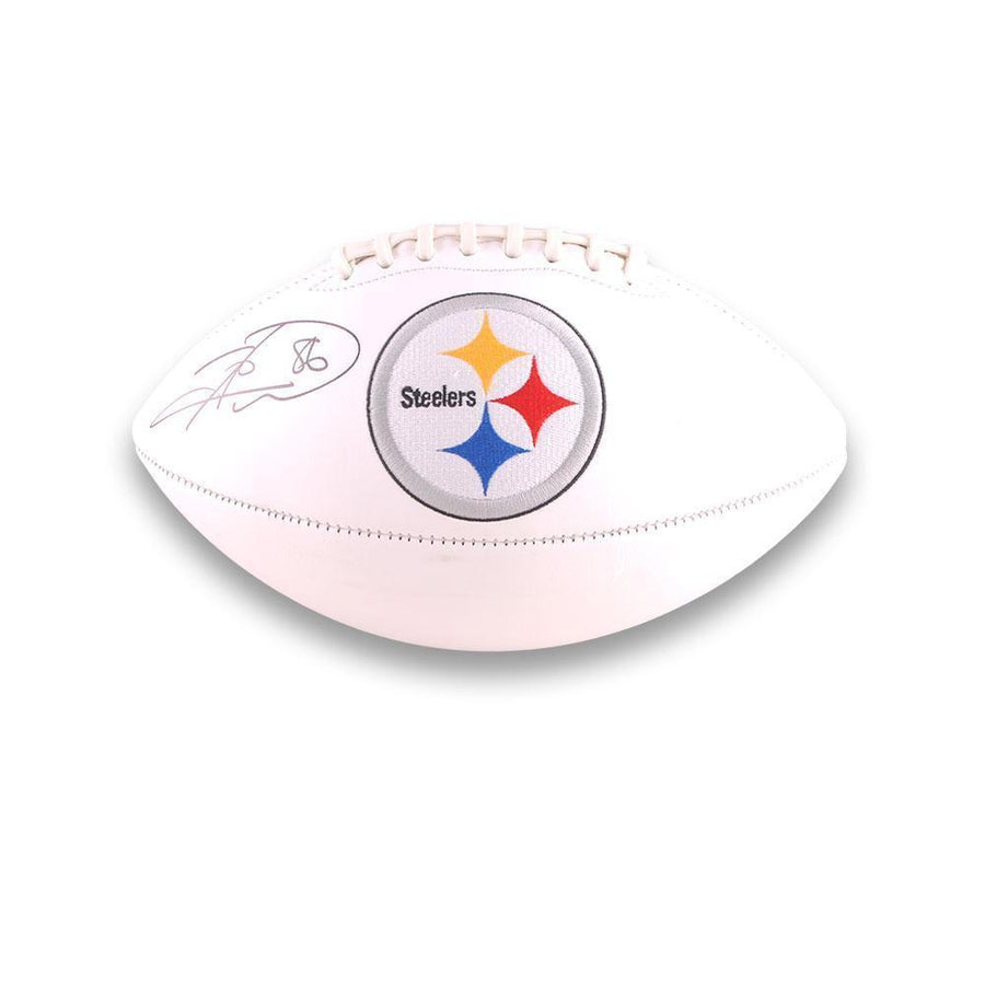 Hines Ward Autographed Steeler White Logo Football