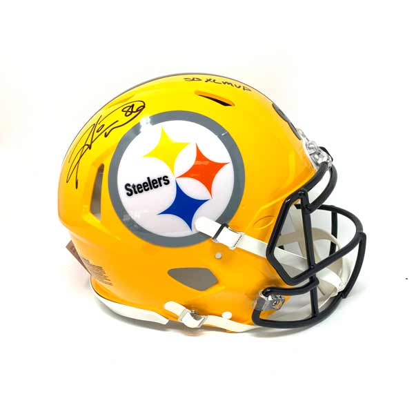 Hines Ward Autographed Steelers Authentic 75Th Anniversary Speed Helmet with SB XL MVP