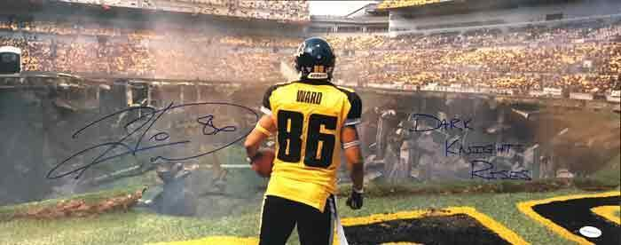"Hines Ward Signed 12""x30"" Panoramic Photo from Batman: The Dark Knight Rises with Dark Knight Rises Inscription"