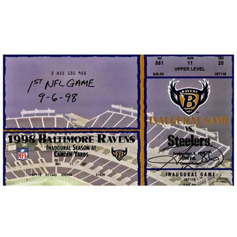 Hines Ward Signed Authentic Game Ticket from 1st NFL Game with 1st NFL Game 9-6-98