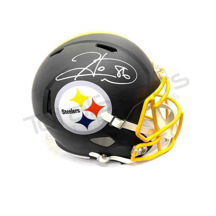 Hines Ward Signed Pittsburgh Steelers Black Replica Matte Helmet