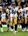 Hines Ward Signed Pointing 8x10