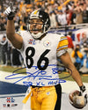 Hines Ward Signed Pointing after SB XL TD 8x10 with SB XL MVP