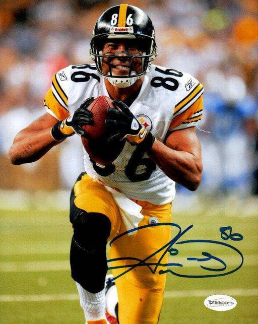 Hines Ward Signed Smiling with Football 8x10 Photo