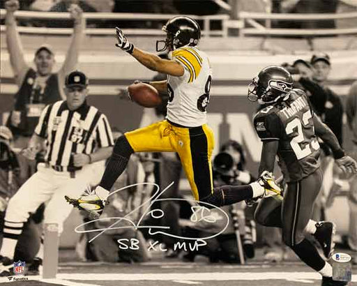 Hines Ward Signed Spotlight SB XL Leap Horizontal 16x20 Photo with SB XL MVP