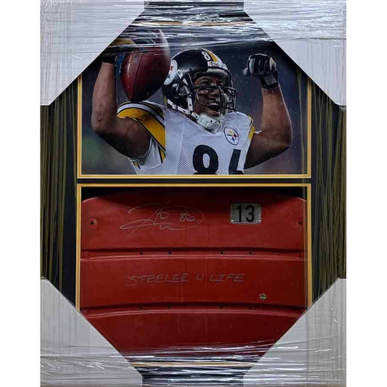 Hines Ward Signed Three Rivers Seatback - Professionally Framed