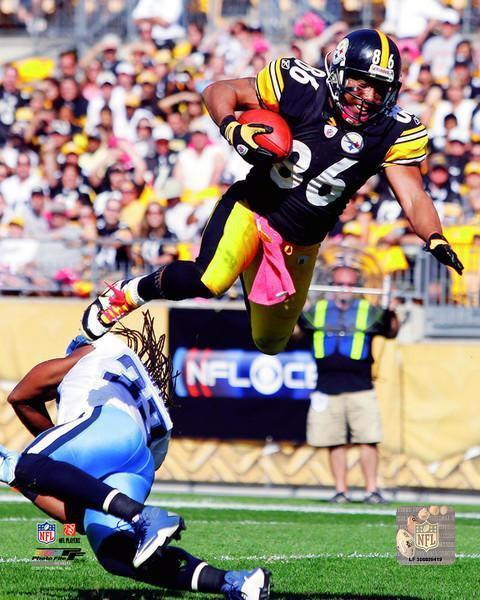 Hines Ward UNSIGNED Airborne Vs. Titans 8x10 Photo