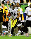Hines Ward UNSIGNED Running with Football in SB XLIII 8x10 Photo