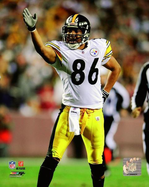 Hines Ward UNSIGNED Signaling First Down 8x10 Photo