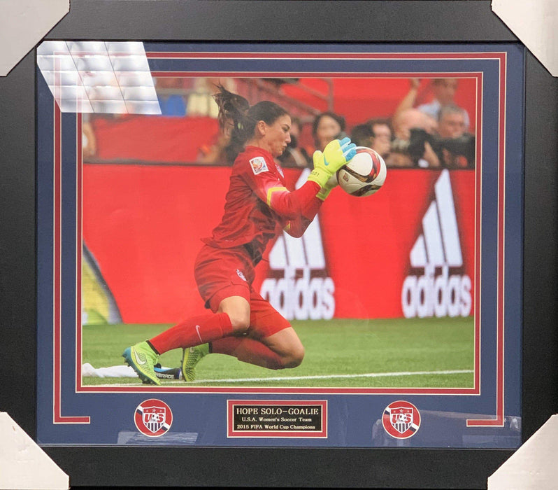 Hope Solo Making A Save FRAMED 16x20 Photo - Unsigned