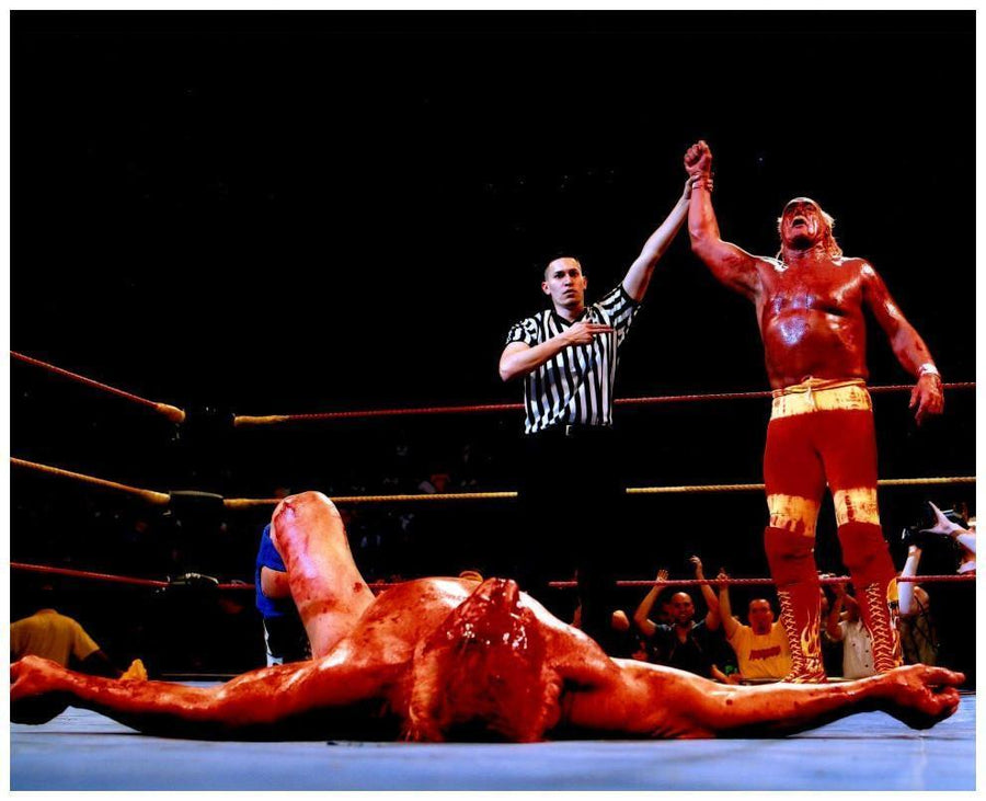 Hulk Hogan Defeating Ric Flair Unsigned 8x10 Photo