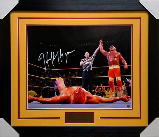 Hulk Hogan Over Flair Signed 16x20 Photo - Professionally Framed