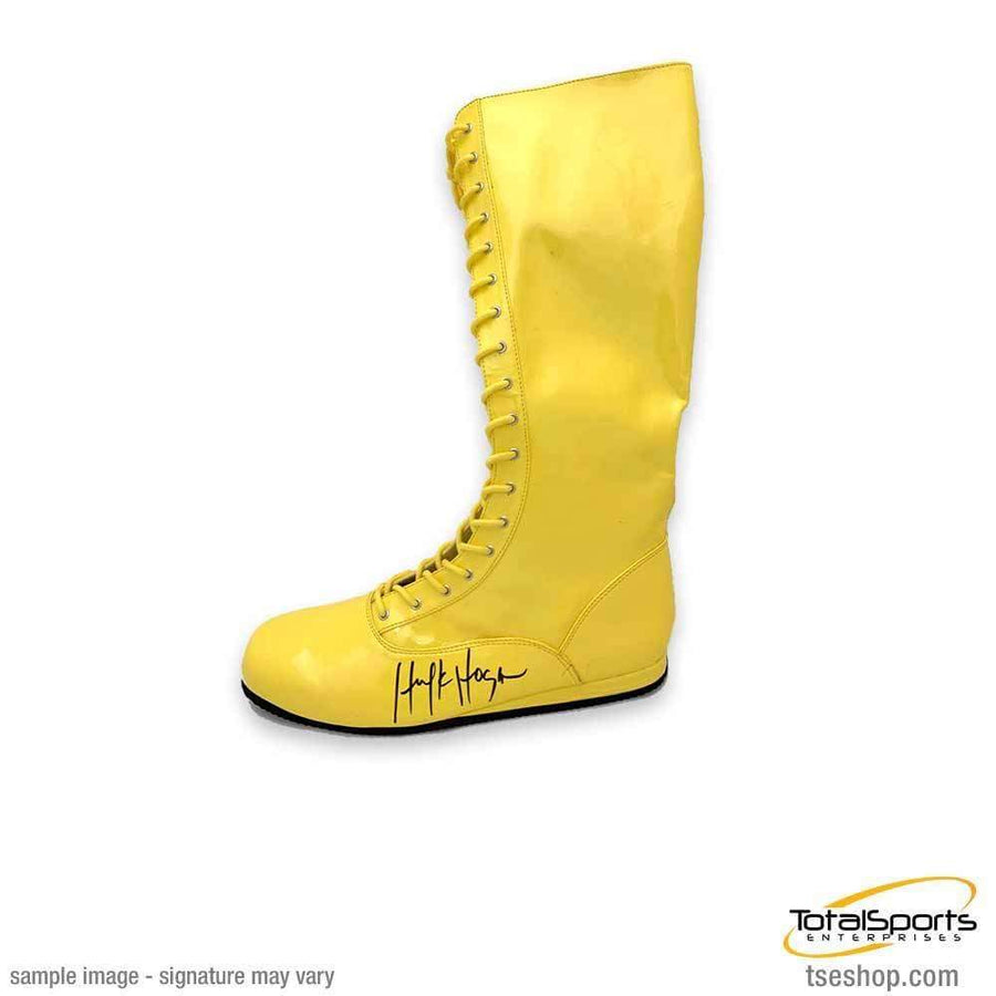 Hulk Hogan Signed Yellow Wrestling Boot