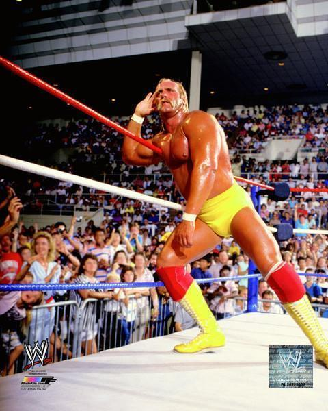 Hulk Hogan Unsigned Listening to Crowd 8x10 Photo
