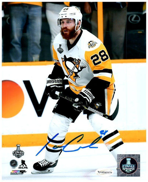 Ian Cole Autographed Stick Up 8x10