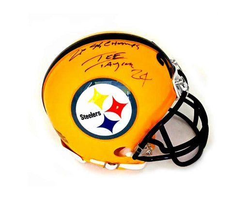 Ike Taylor Signed Pittsburgh Steelers 75th Anniversary Mini Helmet with 2X SB Champs
