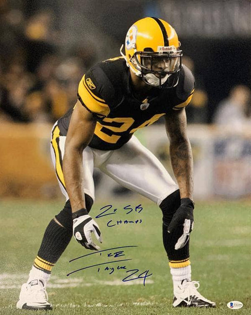 Ike Taylor Signed Ready in Color Rush 16x20 Photo with 2X SB Champs