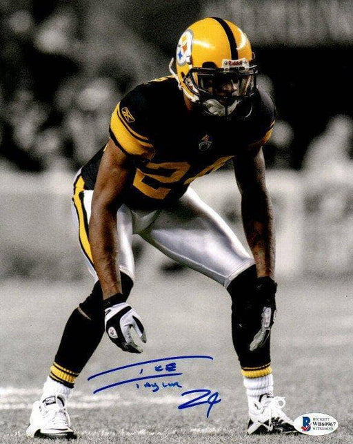 Ike Taylor Signed Spotlight Ready in 75th Anniversary Uniform 8x10 Photo